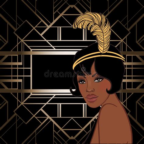 retro fashion glamour girl  twenties african american