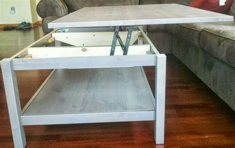Silver medium round metal coffee table with lift top. Hemnes Lift-top Coffee Table - IKEA Hackers