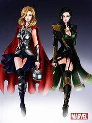 Female Loki and Thor