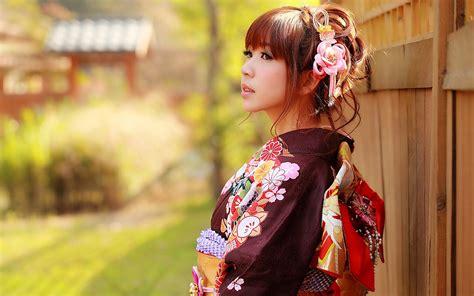 Wallpaper Japanese girl, Asian, kimono clothes 2560x1600 ...