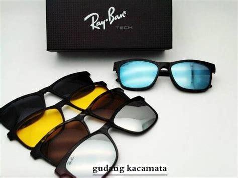 jual beli frame kacamata minus r b clip on 5 lensa