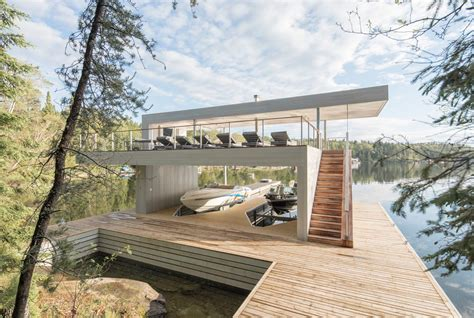 Boat House Ca by This Breathtaking Ontario Boathouse Reveals
