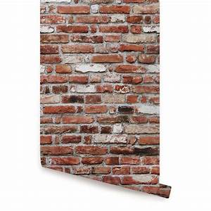 Red Brick Self Adhesive Fabric Wallpaper by AccentuWall on ...