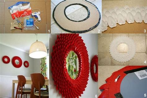This is a diy wall mirror decor that is quick and easy to make. How To Make A Plastic Spoon Mirror - DIY Cozy Home