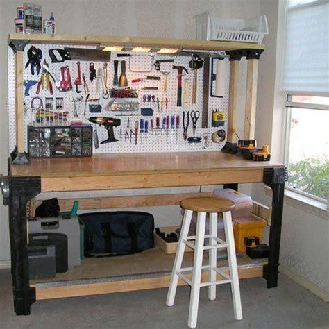 Diy Custom Workbench Storage Wooden Shelf Garage Shop