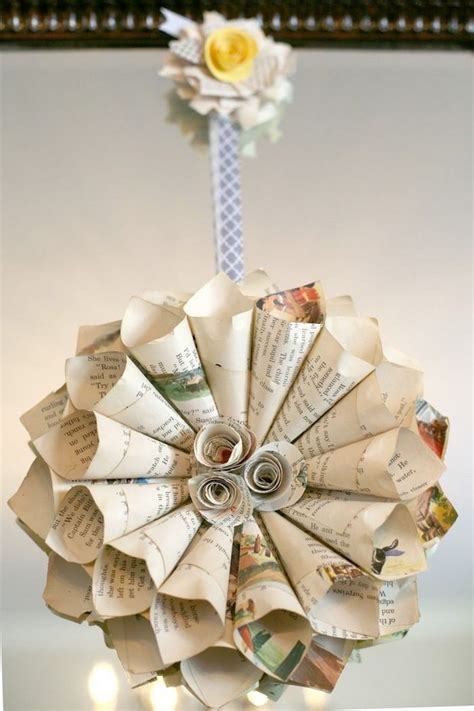 17 recycled craft ideas for christmas tree ornaments book page christmas ornaments 22 upcycled ideas
