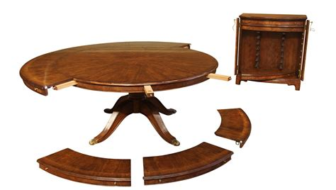 expandable  walnut dining table formal traditional