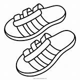 Sandals Coloring Sandal Icon Shoes Flip Flop Slippers Printable Getcolorings Iconfinder sketch template