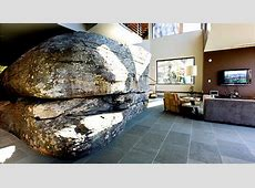 House built around a huge boulder Attention to Detail