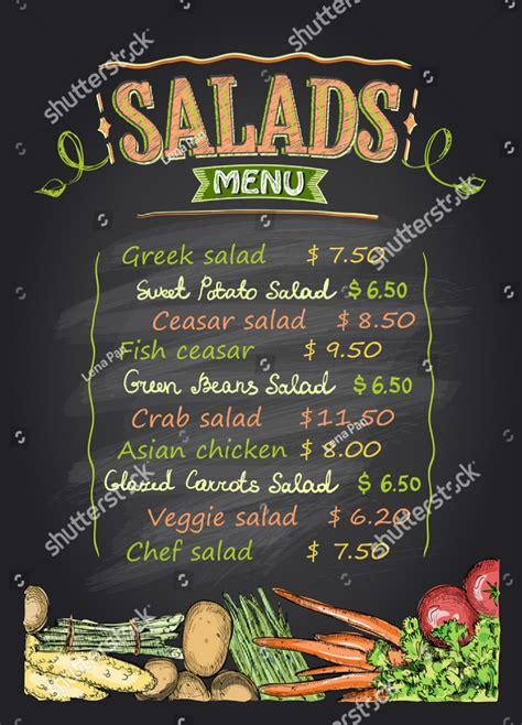 delightful salad bar menu templates psd ai
