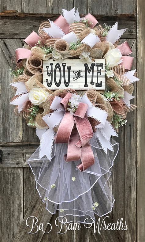 Wedding Wreath Wedding Decor Bridal T Ba Bam Wreaths