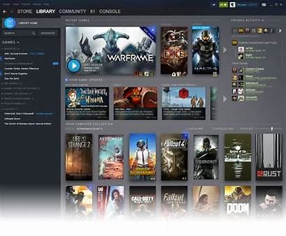 Ui Steam Library Gdc Redesign Revealed Glory