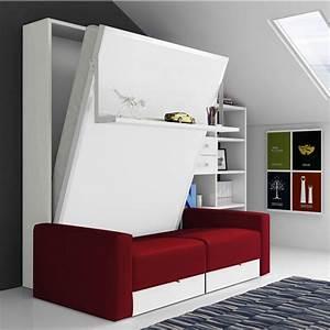 lit escamotable canap tab secret de chambre With tapis de sol avec armoire lit escamotable canapé
