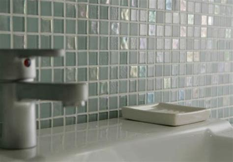 Dewdrops Recycled Glass Tile  Modern  Bathroom By