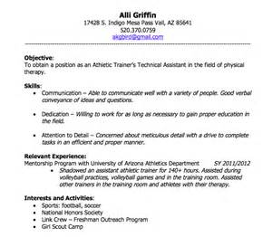 athletic resume objective resume builder