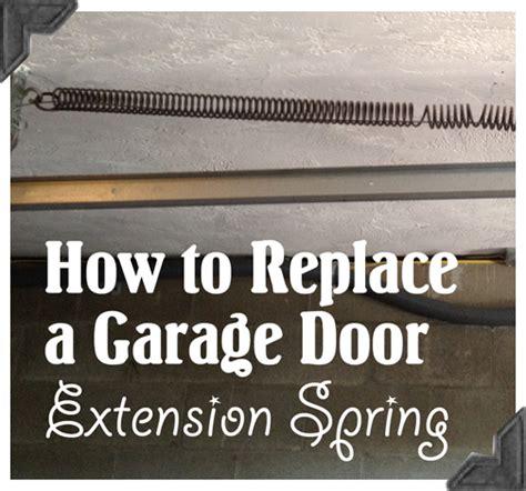 how to replace garage door how to replace garage door extension springs guest post