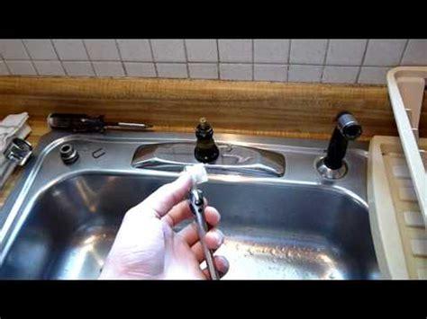 repair moen single handle faucet pt youtube
