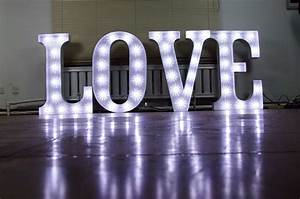 Secondhand prop shop illuminated letters large 3ft for Big love letters for sale