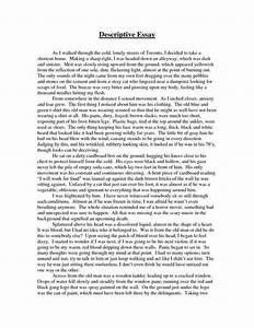 Descriptive Essay Example Place Black Plague Essay Descriptive  Descriptive Writing Place Example Three Paragraph Essay Outline Professional Cover Letter Writing Service also Essay My Family English  Examples Of A Thesis Statement For An Essay