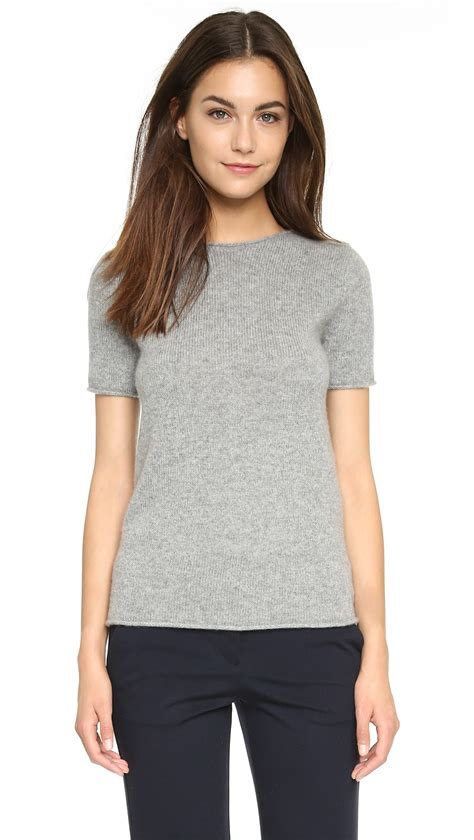sweater shorts theory tolleree sleeve sweater in gray lyst
