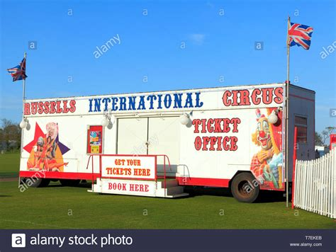 russells international circus travelling show ticket