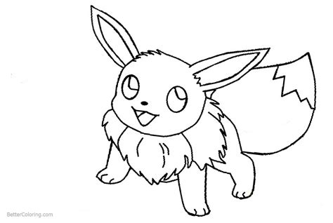 eevee coloring pages  pokemon  printable