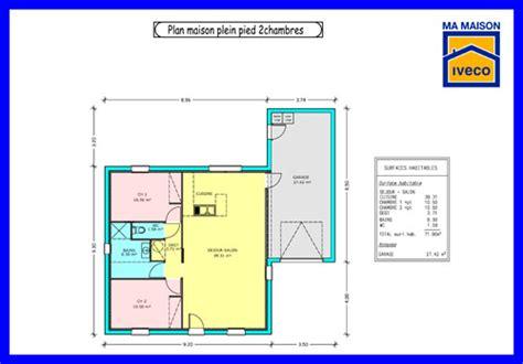 Plan Maison 2 Chambres - constructeurvendee plans de maisons