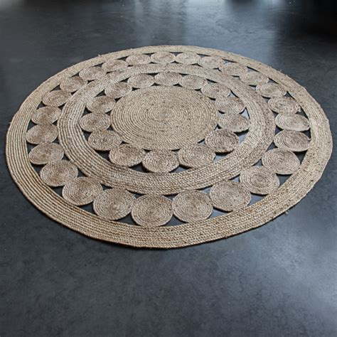 ficelle cuisine le tapis rond en jute tressee facile d 39 entretien et