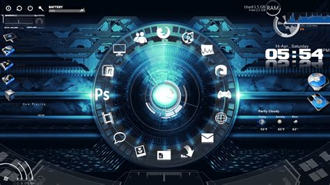 pc bureau alienware my rainmeter theme by chaseln26 on deviantart