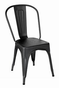 Chaise Metal Tolix : chaise tolix a noir mat ~ Teatrodelosmanantiales.com Idées de Décoration