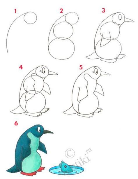 children art drawing lessons  kids  penguin