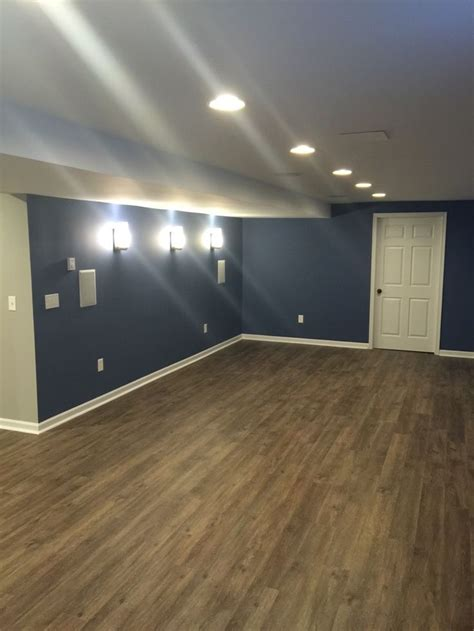 fix remodeling easton pa    basement remodel  sherwin williams denim color