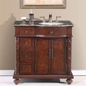 "36"" Perfecta PA-139 Bathroom Vanity R Single Sink Cabinet"