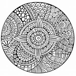 Mandala Star Thick Lines