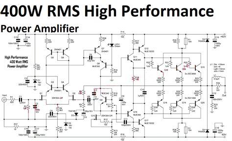 High Performance Power Amplifier Watt Electronic Circuit