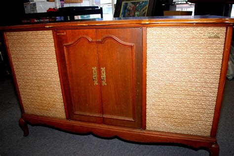 turntable cabinet vtg fisher 600 stereo receiver am fm radio cabinet w