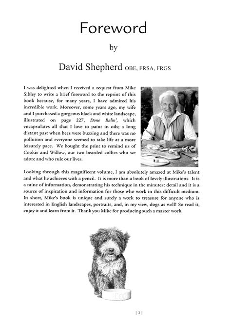foreword  david shepherd  drawing    life
