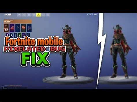 fix fortnite mobile graphics glitch