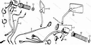 Honda Motorcycle 1984 Oem Parts Diagram For Control Levers    Cables    Switches