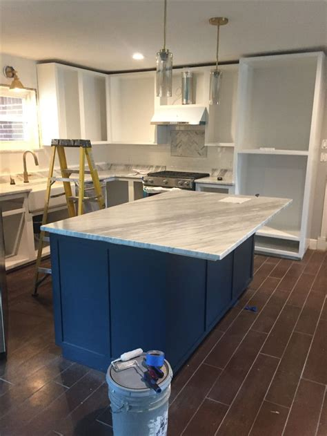 sherwin williams sea serpent kitchen island seaserpent