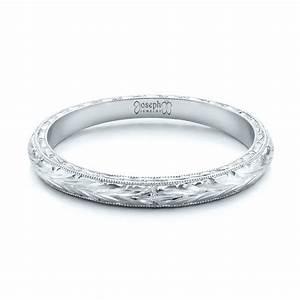 Custom Hand Engraved Wedding Band 102041 Seattle