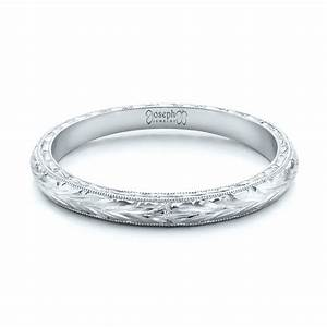 custom hand engraved wedding band 102041 With engraved wedding rings