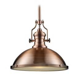 Pendant light in antique copper finish inches wide
