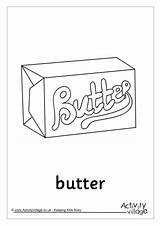 Butter Colouring Pages Pancake Recipe Activity Word Become Member Log Activityvillage sketch template