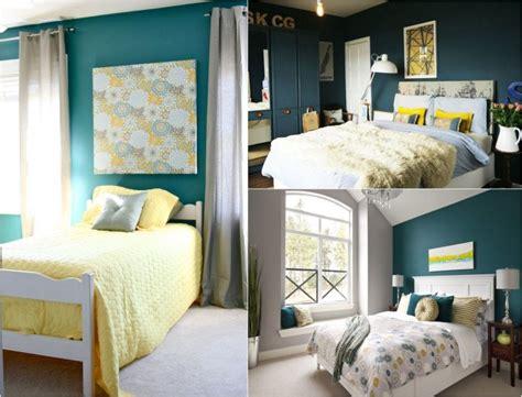 d馗oration chambre peinture déco chambre bleu canard