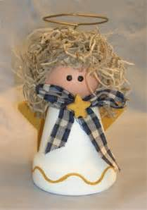 angel crafts make a clay pot angel for christmas