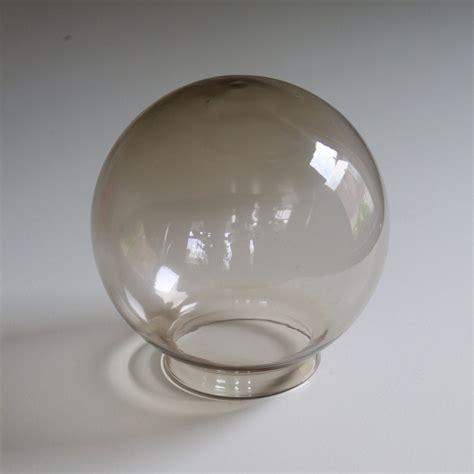 antique globe l shade vintage globe smoked glass l shade mid century modern
