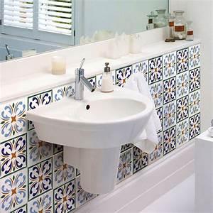 Stickers Carreaux De Ciment : 9 stickers carreaux de ciment lagos salle de bain et wc ~ Melissatoandfro.com Idées de Décoration