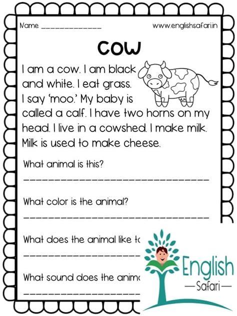 reading comprehension farm animals lesson planned