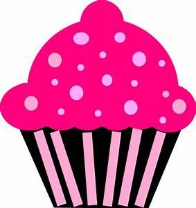 Cupcake Pink Black Clip Art at Clker.com - vector clip art ...
